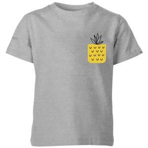 My Little Rascal Pineapple Pocket Kids' T-Shirt - Grey