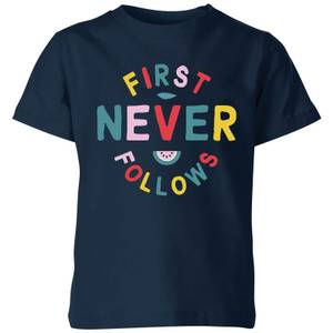 My Little Rascal First Never Follows Kids' T-Shirt - Navy