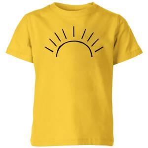 My Little Rascal Sun Linework Kids' T-Shirt - Yellow