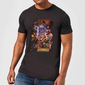 Avengers Team Portrait Men's T-Shirt - Black
