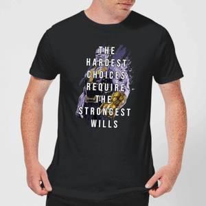 Avengers The Strongest Will Men's T-Shirt - Black