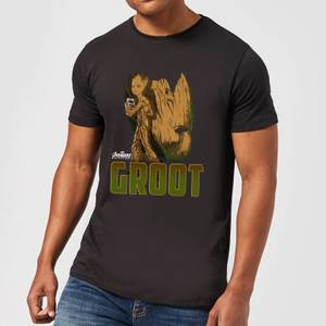 T-Shirt Homme Groot Avengers - Noir