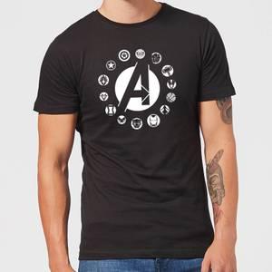 T-Shirt Homme Team Logo Avengers - Noir