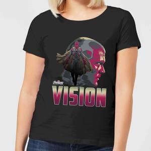 Camiseta Marvel Vengadores Visión - Mujer - Negro