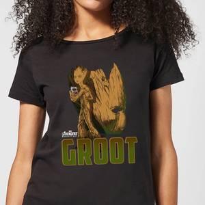 Avengers Groot Women's T-Shirt - Black