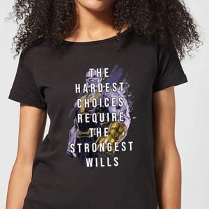 Avengers The Strongest Will Damen T-Shirt - Schwarz