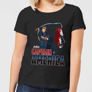 T-Shirt Femme Captain America Avengers - Noir