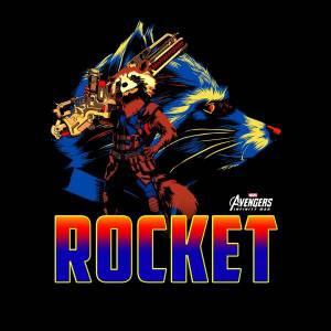 T-Shirt Femme Rocket Raccoon Avengers - Noir