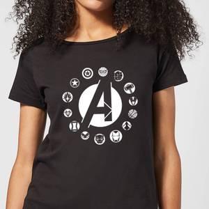 T-Shirt Femme Team Logo Avengers - Noir