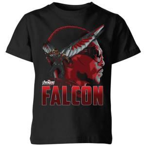 Avengers Falcon Kids' T-Shirt - Black