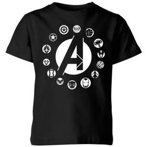 T-Shirt Enfant Team Logo Avengers - Noir
