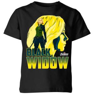 T-Shirt Avengers Black Widow - Nero - Bambini
