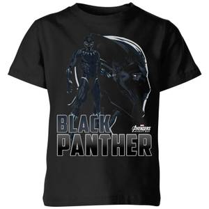 T-Shirt Enfant Black Panther Avengers - Noir