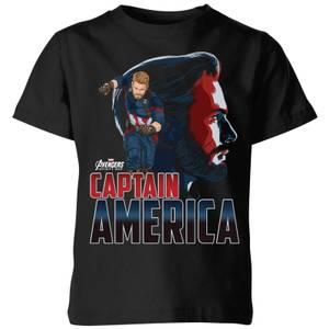 T-Shirt Enfant Captain America Avengers - Noir