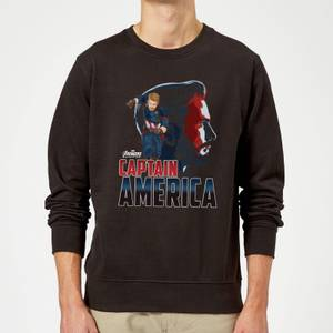 Avengers Captain America Sweatshirt - Black