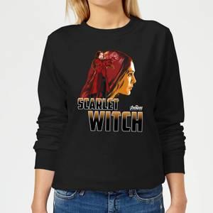 Sweat Femme Scarlet Witch - Sorcière rouge Avengers - Noir