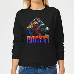 Avengers Rocket Women's Sweatshirt - Black