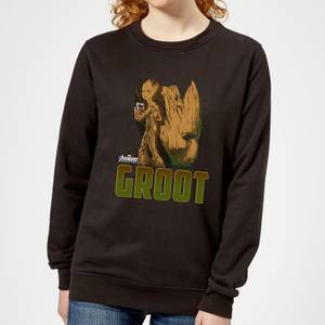 Avengers Groot Women's Sweatshirt - Black
