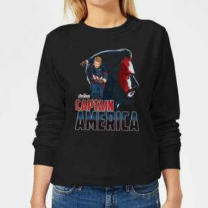 Avengers Captain America Women's Sweatshirt - Black