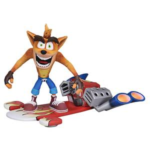 "NECA Crash Bandicoot - 7"" Action Figure - Deluxe Hoverboard Crash"