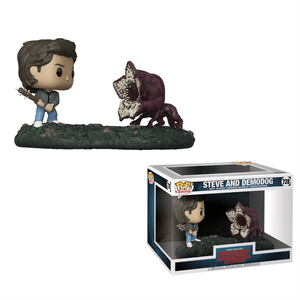 Stranger Things Steve vs Demodog Funko Pop! Movie Moment