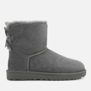 UGG Women's Mini Bailey Bow II Sheepskin Boots - Grey