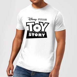 Toy Story Logo Outline Men's T-Shirt - White