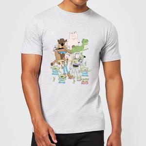 T-Shirt Homme Toute la Bande Toy Story - Gris