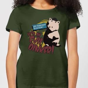 Toy Story Evil Oinker Women's T-Shirt - Forest Green