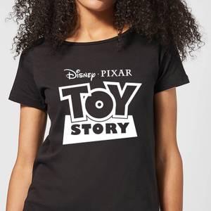 Toy Story Logo Outline Women's T-Shirt - Black