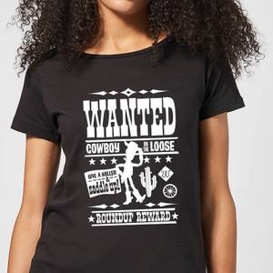T-Shirt Femme Affiche Wanted Toy Story - Noir