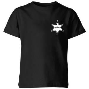 Toy Story Sheriff Woody Badge Kids' T-Shirt - Black