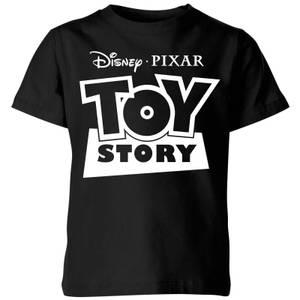 Toy Story Logo Outline Kids' T-Shirt - Black