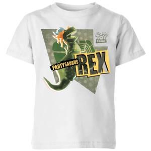 Toy Story Partysaurus Rex Kids' T-Shirt - White