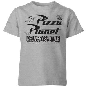 Toy Story Pizza Planet Logo Kids' T-Shirt - Grey