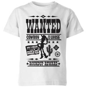 Toy Story Wanted Poster Kids' T-Shirt - White