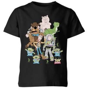 Toy Story Group Shot Kids' T-Shirt - Black