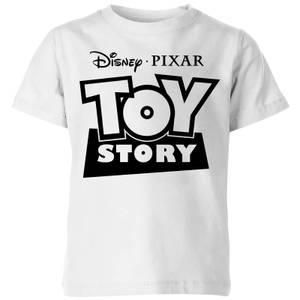 Toy Story Logo Outline Kids' T-Shirt - White