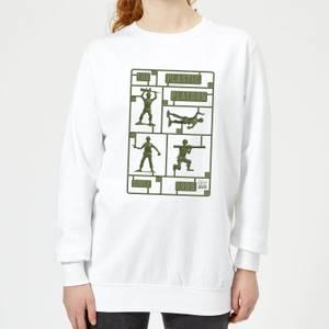 Toy Story Plastic Platoon Women's Sweatshirt - White