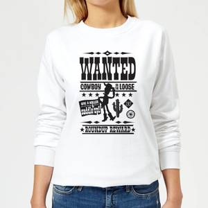 Toy Story Wanted Poster Women's Sweatshirt - White