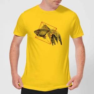 Florent Bodart Fish In Geometry Men's T-Shirt - Yellow