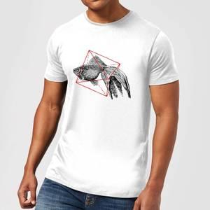 Florent Bodart Fish In Geometry Men's T-Shirt - White