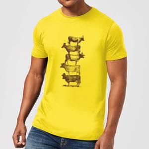 Florent Bodart Cow Cow Nuts Men's T-Shirt - Yellow