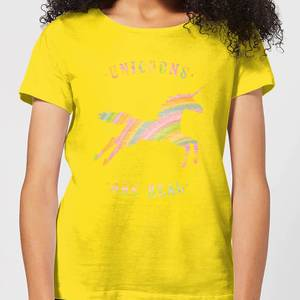 Florent Bodart Unicorns Are Real Women's T-Shirt - Yellow