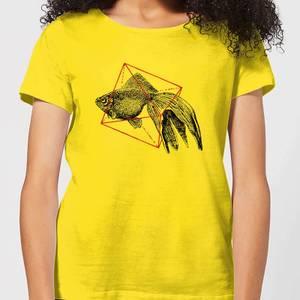 Florent Bodart Fish In Geometry Women's T-Shirt - Yellow