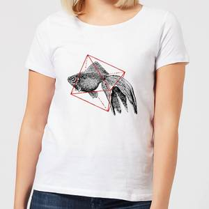 Florent Bodart Fish In Geometry Women's T-Shirt - White