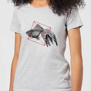 Florent Bodart Fish In Geometry Women's T-Shirt - Grey