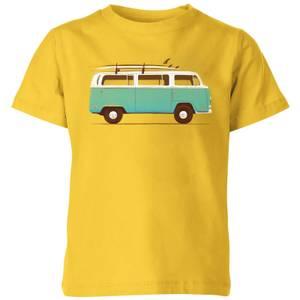 Florent Bodart Blue Van Kids' T-Shirt - Yellow