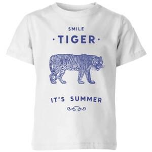 Florent Bodart Smile Tiger Kids' T-Shirt - White