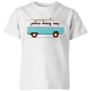 Florent Bodart Blue Van Kids' T-Shirt - White